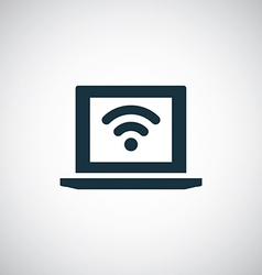 Wifi laptop icon vector