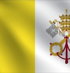 Vatican City Holy See flag vector image