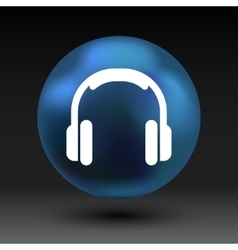 Headphone icon music isolated hear funky vector