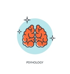Brains psyhology vector