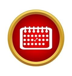 Calendar with sport day icon simple style vector