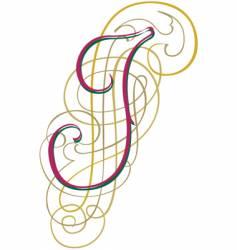 script letter i vector image