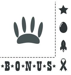 Animal footprint flat icon vector
