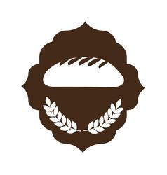 Bakery shop emblem icon vector
