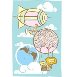 Balloon travel vector image vector image