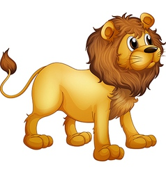 cartoon strong lion vector image vector image