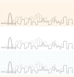 Dallas hand drawn skyline vector