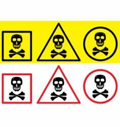 danger label with skull symbol vector image