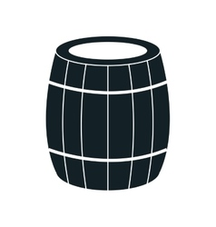 Delicious wine isolated flat icon vector image vector image