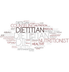 Dietetian word cloud concept vector