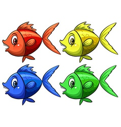 Four fish vector image vector image