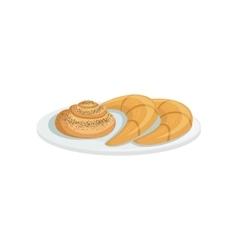 French pastry european cuisine food menu item vector