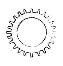 Gear settings setup icon vector