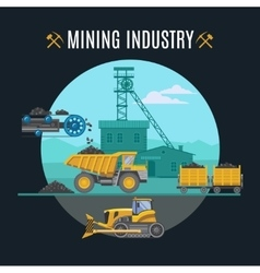 Mining Industry Background vector image
