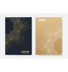 Modern templates for brochure Leaflet vector image