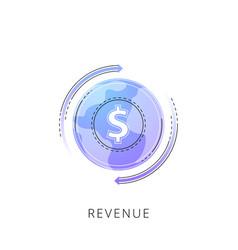 Neon revenue line icon vector