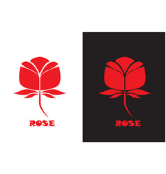 Red rose icon vector