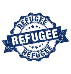 Refugee stamp sign seal vector