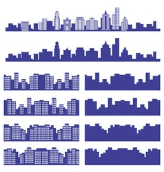 silhouettes of the city vector image vector image