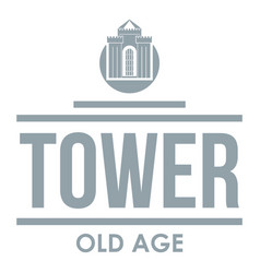 Tower old age logo simple gray style vector