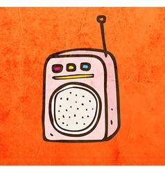 Walkie talkie cartoon vector
