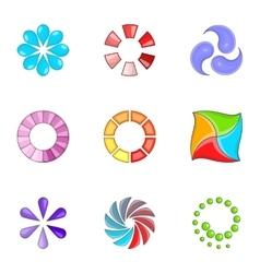 Web loader icons set cartoon style vector