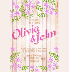 wedding invitation card invitation card with vector image