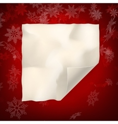 Christmas sheet of curved paper eps 10 vector