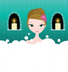 Bubble bath vector