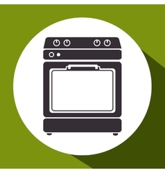 Oven kitchen isolated icon vector