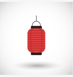 red chinese lantern flat icon vector image