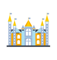 Colorful fairytale royal castle or palace building vector