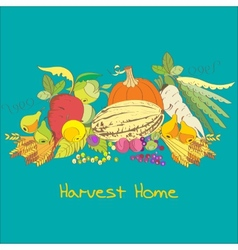 Harvest home vector