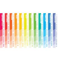 2018 creative calendar vector image vector image