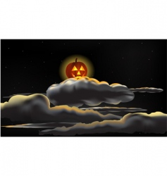 Pumpkin moon vector