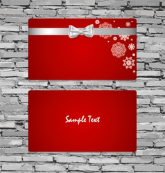 Gift cards with gift bows and ribbons vector