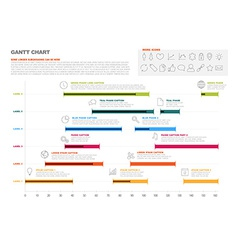 Gantt project production timeline graph vector