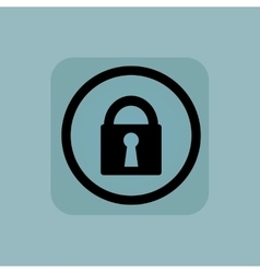 Pale blue locked sign vector