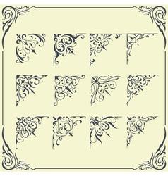 Corner Frame Ornament vector image