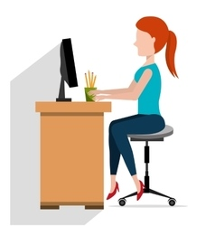 Office interior workplace vector