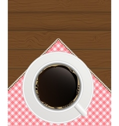 Black coffee background photo-realistic vector