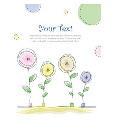 Summer floral card vector