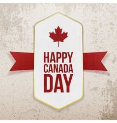 Happy canada day greeting poster vector