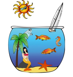 Aquarius vector image vector image