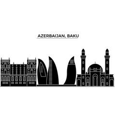 azerbaijan baku architecture city skyline vector image