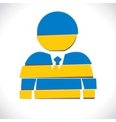 blue businessmen design with strip vector image vector image