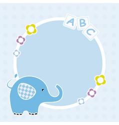 Blue elephant framework vector