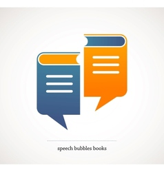 book talks - concept design with speech bubbles vector image vector image