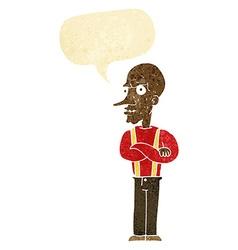 Cartoon mean old man with speech bubble vector