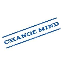Change mind watermark stamp vector